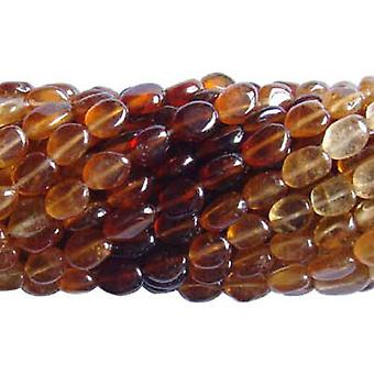 36+ Brown Hessonite Garnet Approx 5 x 7mm-6 x 9mm Oval Handcut Beads DW1205