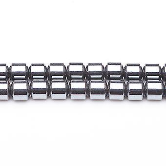 Strand 70+ Grey Hematite (Non Magnetic) 4 x 4mm Drum Beads GS6870-1