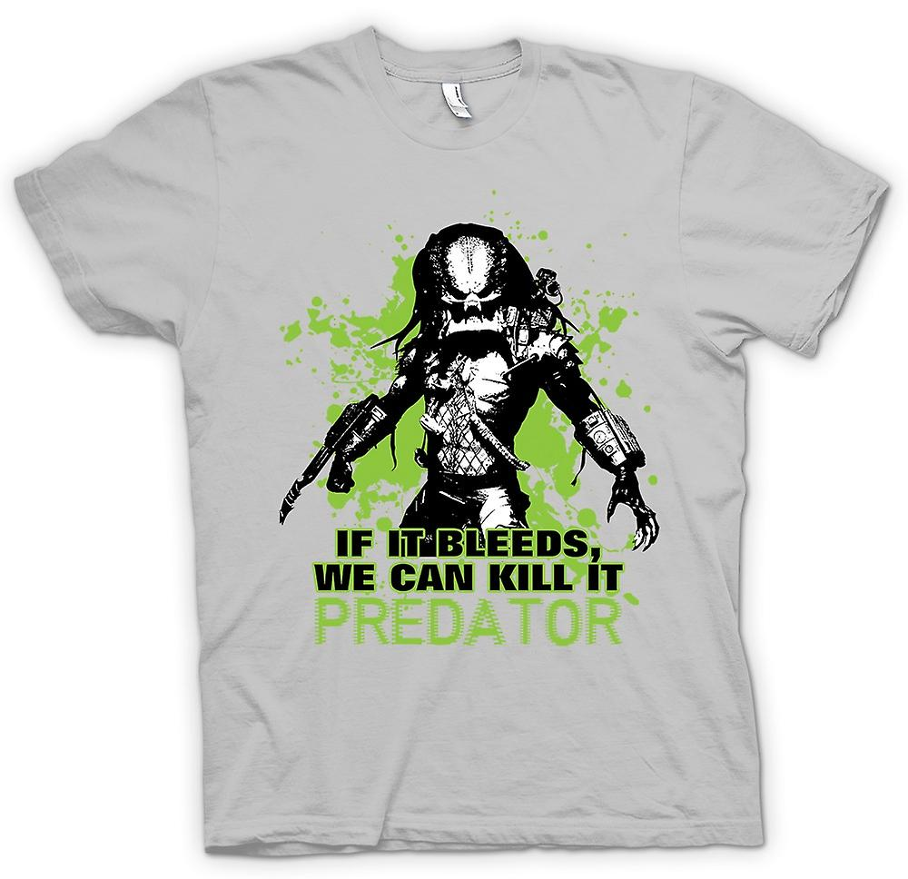 Mens T-shirt - Predator If It Bleeds We Can - Funny
