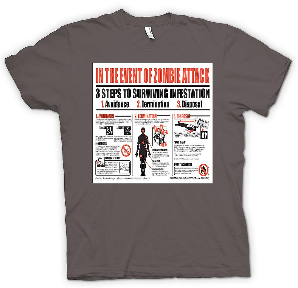 Womens T-shirt - Zombie Infestation - Survival-Poster
