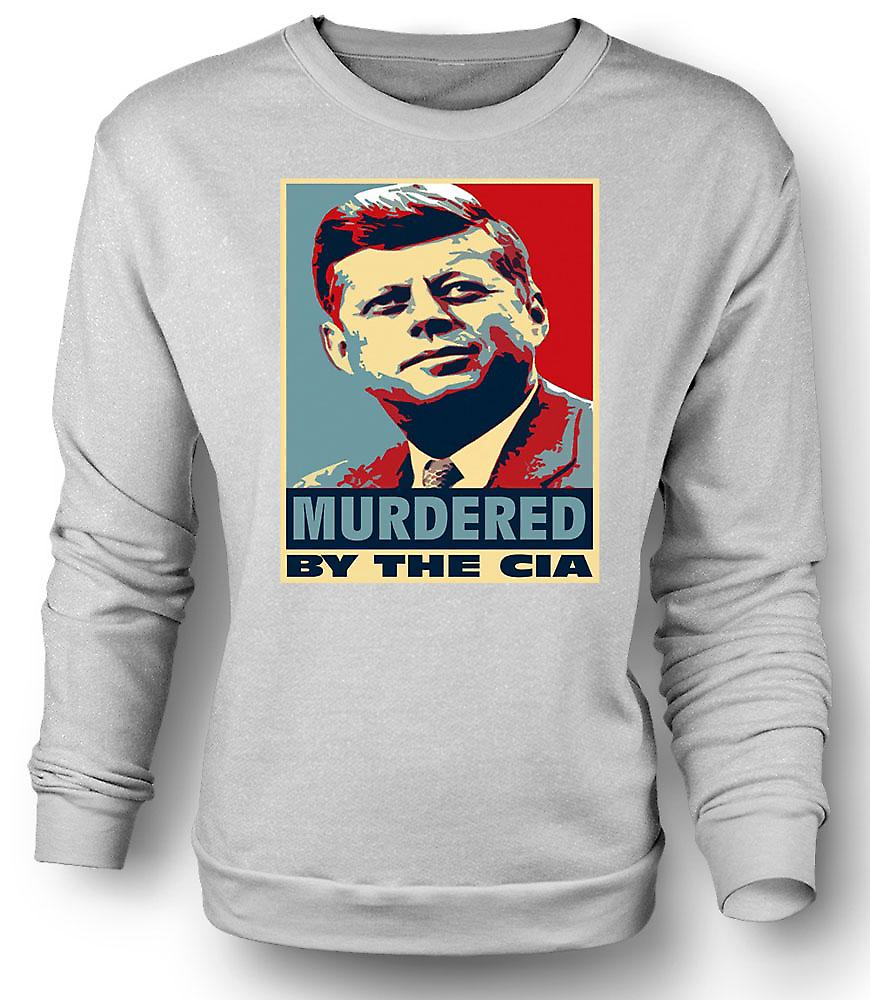 Mens Sweatshirt JFK Murdered By CIA