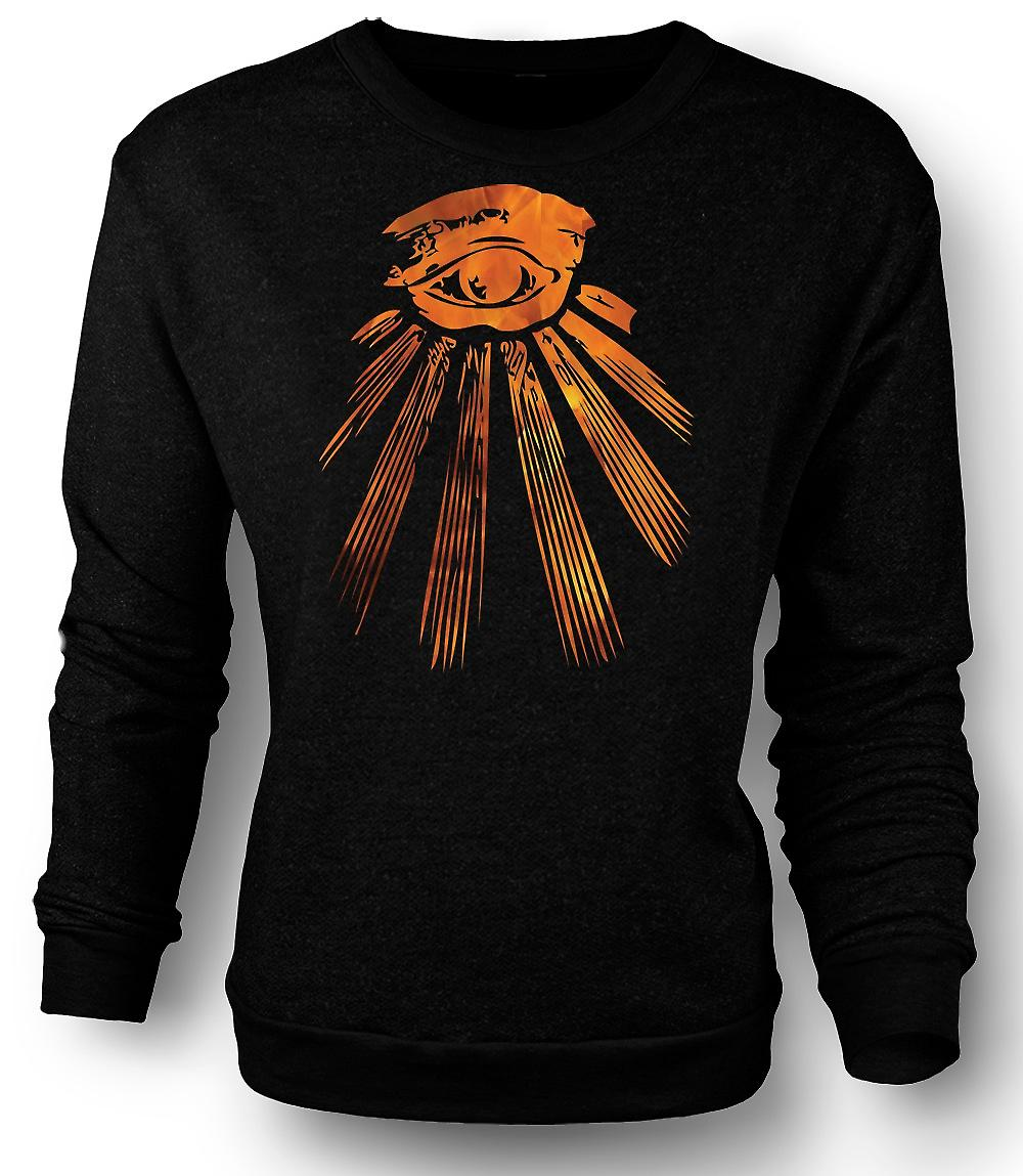 Mens Sweatshirt Illuminati alle wakend oog