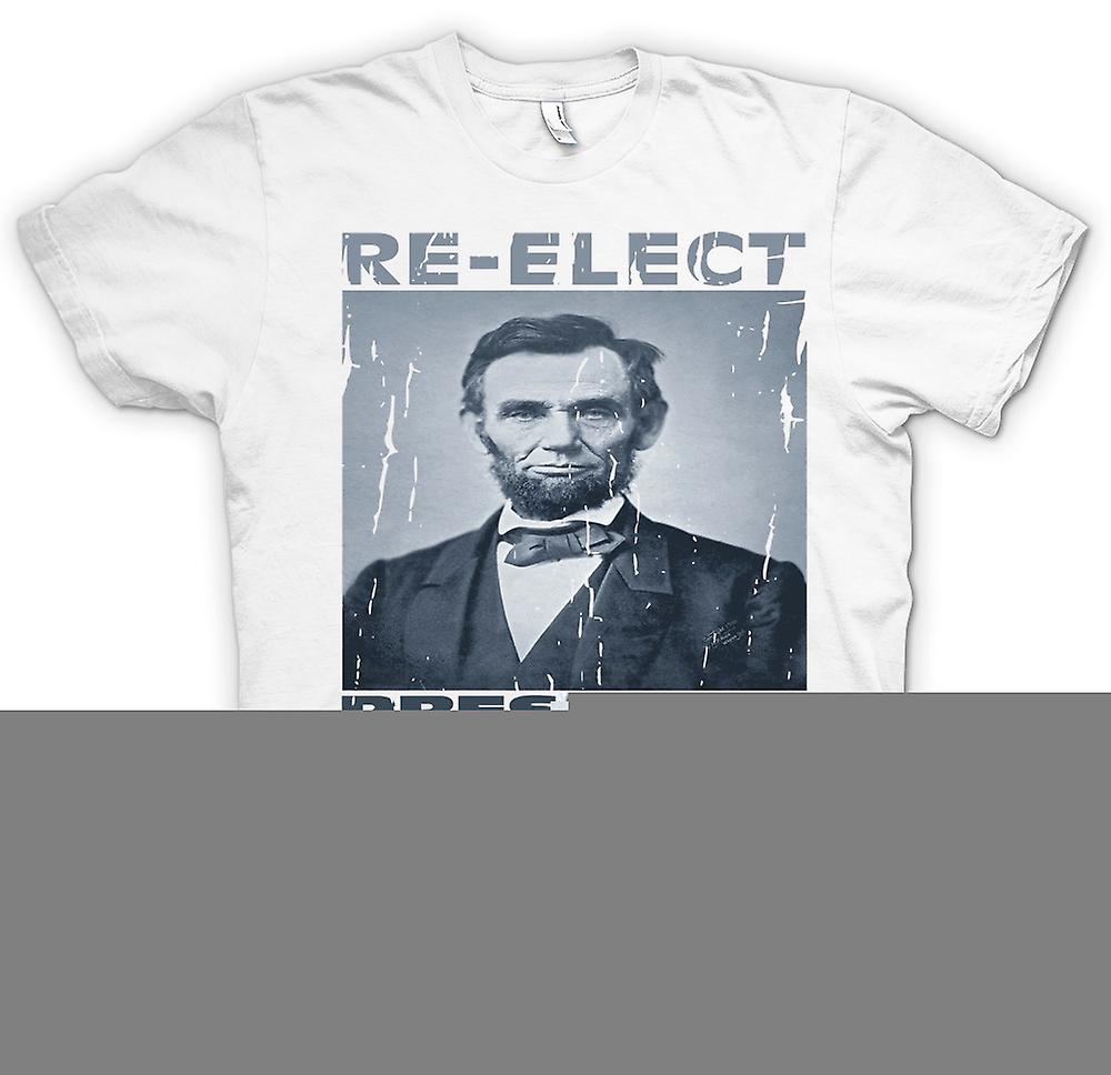 Mens t-shirt - Relect Presidente Lincoln - ritratto