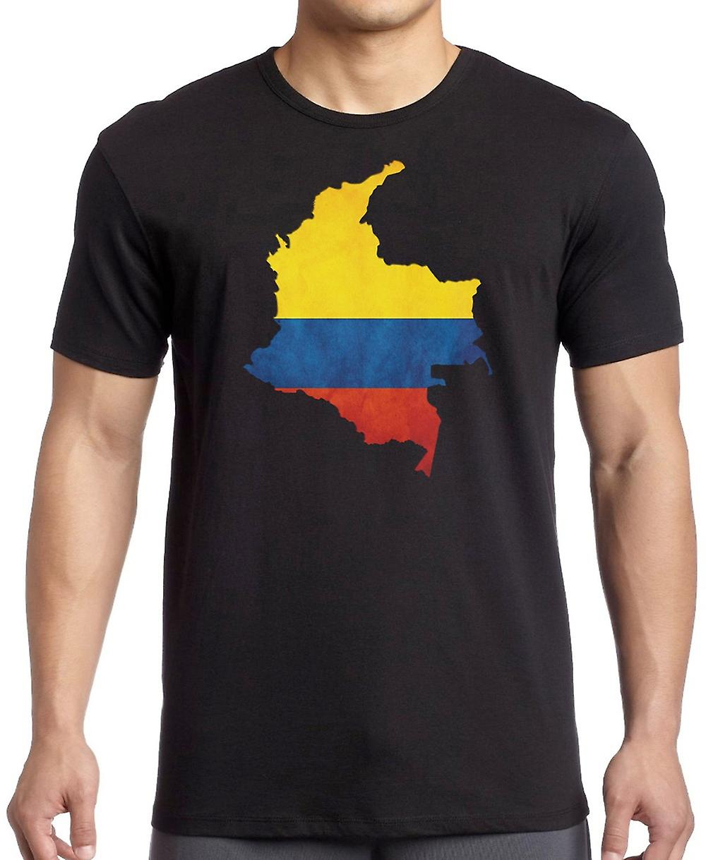 Kolumbianische Columbia Flagge Karte - Kinder T Shirt