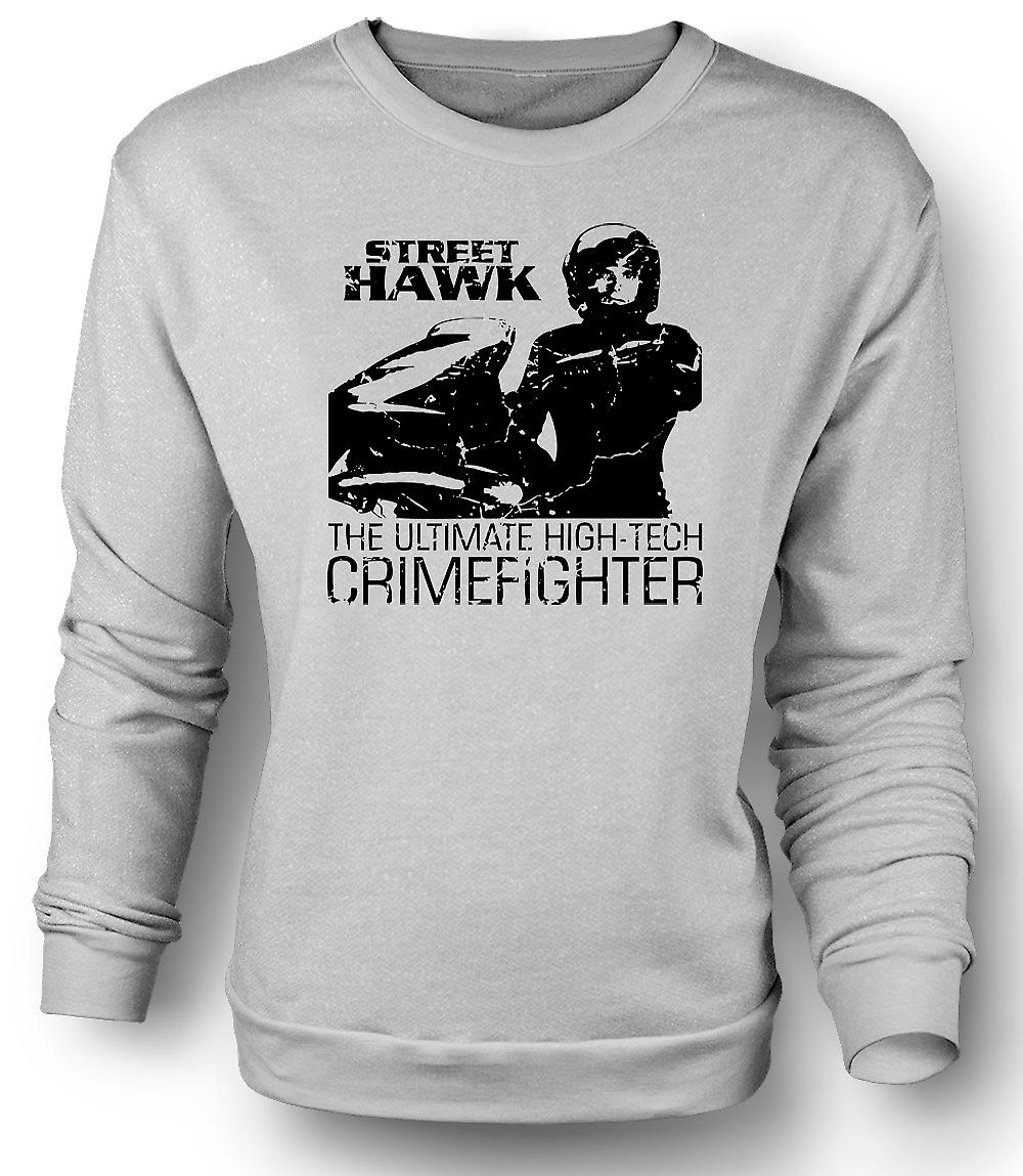 Mens Sweatshirt Street Hawk - Bike - Crime Fighter