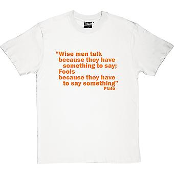 Weisen Platon zitieren Herren T-Shirt