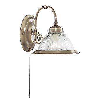 Searchlight 9341-1 American Diner Antique Brass Wall Light