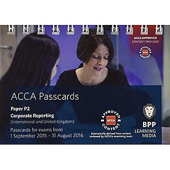 ACCA P2 Corporate Reporting (International): Passcards