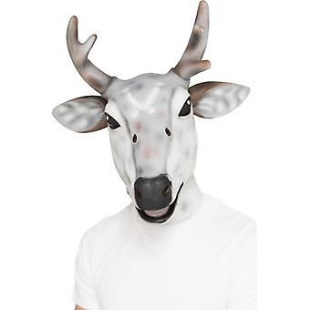 Mens Reindeer/Stag Latex Mask  Fancy Dress Accessory
