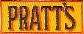 Pratts (petrol) iron-on/sew-on cloth patch
