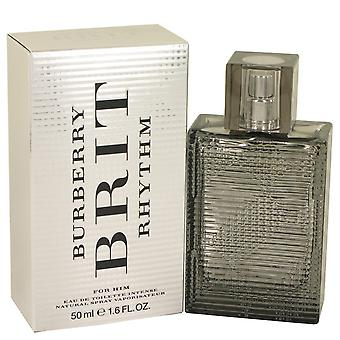 Burberry Brit Rhythm Intense by Burberry Eau De Toilette Spray 1.7 oz / 50 ml (Men)