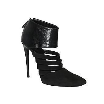 Balenciaga Black Suede Sandals
