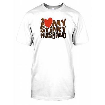 I Love My Stinky Husband - Funny Kids T Shirt