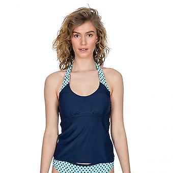 Trespass Womens Winona Tie Neck Contrast Summer Tankini Top