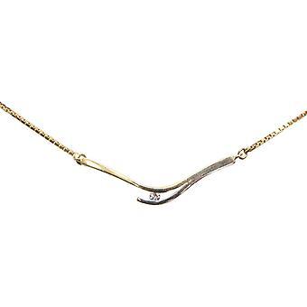 Bicolor gouden collier met diamant