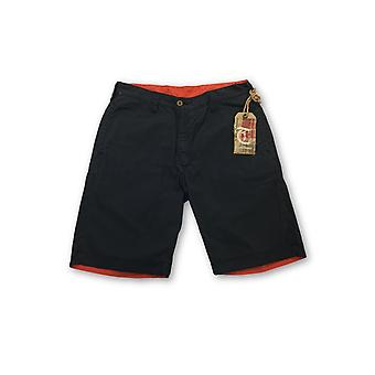 Tailor Vintage reversible shorts in navy and orange