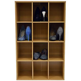 Duva hål - 12 par skor lagring / Display / Media hyllor - bok