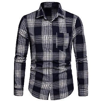 Allthemen hommes à manches longues chemise à carreaux Colorbloqué chemise d'affaires