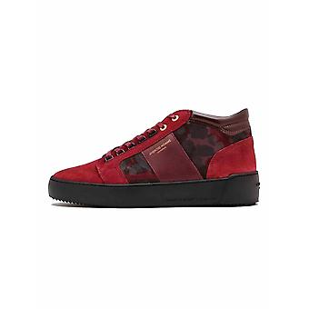 Android Homme  Android Homme Red Camouflage Suede Propulsion Mid Sneaker