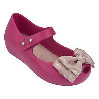 Melissa Shoes Mini Ultragirl Ribbon 15 Shoe, Pink Contrast
