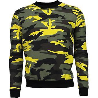 Kleur Leger Print - Sweater - Geel/Zwart