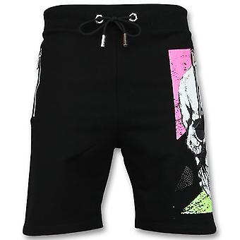 Cotton Shorts men-men Sport Pants-Black