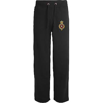 Royal Fusiliers - Licensed British Army Embroidered Open Hem Sweatpants / Jogging Bottoms