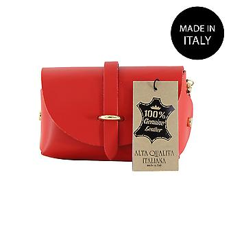Leather pochette made in Italy 10024