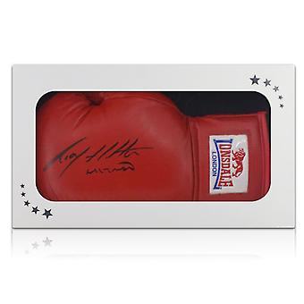 Ricky Hatton Signed Red Boxing Glove In Gift Box