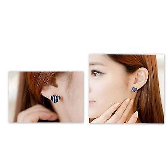 Earrings-Hearts, White (1-pair)