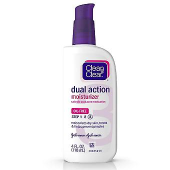 Clean & clear oil-free dual action moisturizer, 4 oz