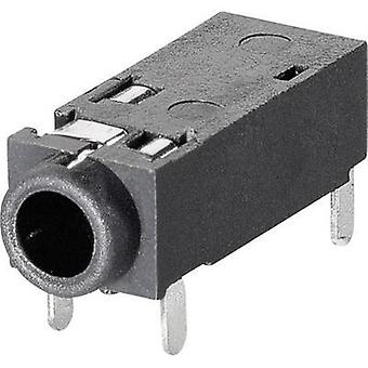 2.5 mm audio jack Socket, horizontal mount Number of pins: 4 Stereo BKL Electronic 1109202 1 pc(s)