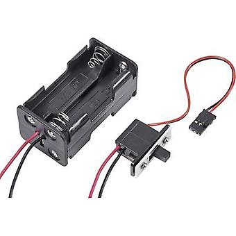 Modelcraft BATTERY BOX WITH SWITCH JR With switch