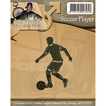 Trouvez-la Trading Amy Design Die-Soccer Player ADD10039