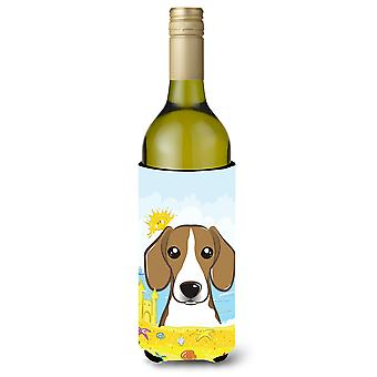 Beagle Summer Beach Wine Bottle Koozie Hugger BB2107LITERK