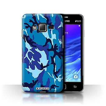 STUFF4 Case/Cover for Samsung Z1/Z130/Blue 4/Camouflage Army Navy