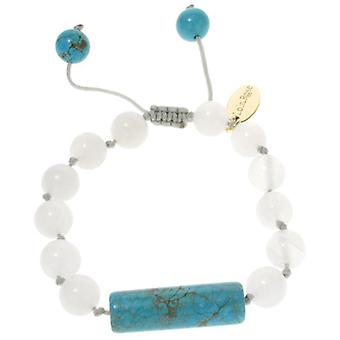 Lola Rose Emmeline Bracelet Natural Blue Stone & Ice Jade