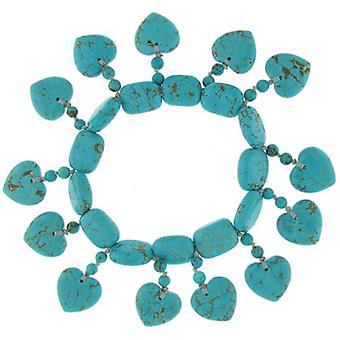 Lola Rose Juel Bracelet Natural Blue Howlite