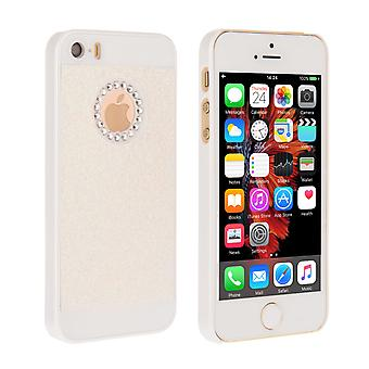 Yousave Accessori iPhone SE Flash diamante caso White