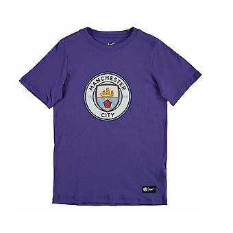 2016-2017 Man City Nike Core Crest Tee (Purple) - Kids