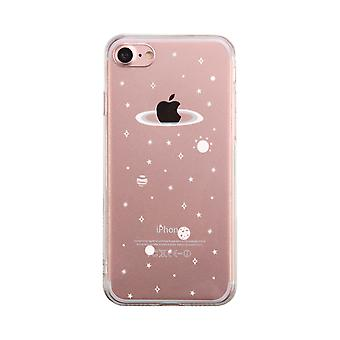 Galaxy Pattern Transparent Phone Case Cute Clear Phonecase