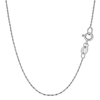 10 k witgoud Singapore Chain ketting, 0.8mm