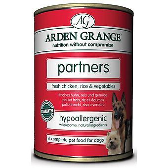 Arden Grange partnere frisk kylling ris & grøntsager 395g 6pk (pakke med 4)