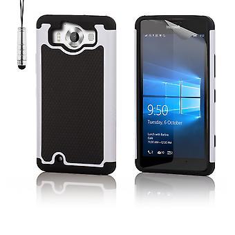 Caso de prueba de choque + stylus para Microsoft Lumia 950 - blanco