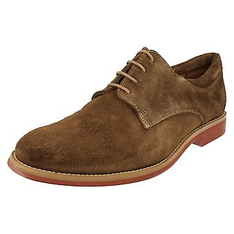 Mens Anatomic & Co Delta Ocre Suede Smart/Casual Lace Ups