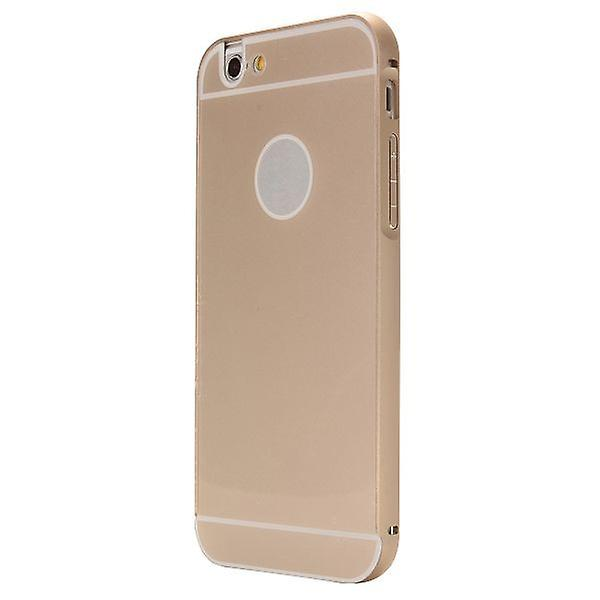 Aluminium bumper 2 pieces with cover gold for Apple iPhone 6 4.7