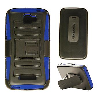 Holster Combo Protector Case for Alcatel 7040T / One Touch Fierce 2 (Blue Skin w