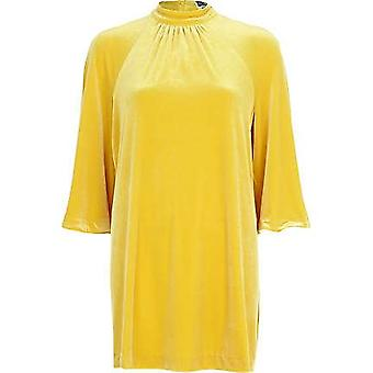 River Island Yellow Chelsea Girl Split Sleeve Dress