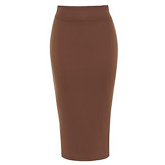 Pencil Skirt with Back Split