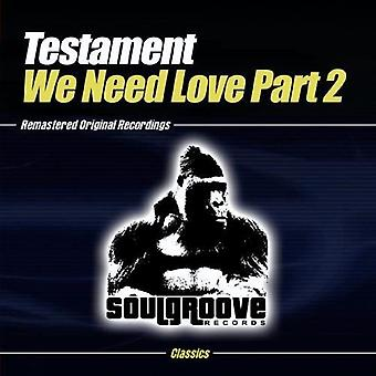 Testament - We Need Love-Part 2 [CD] USA import
